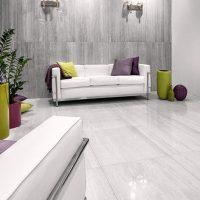 Gresie rectificata Pastorelli Tibur Bianco ambient