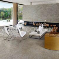 Gresie imitatie piatra quartzite Caesar Ceramiche Roxstones White Quartz