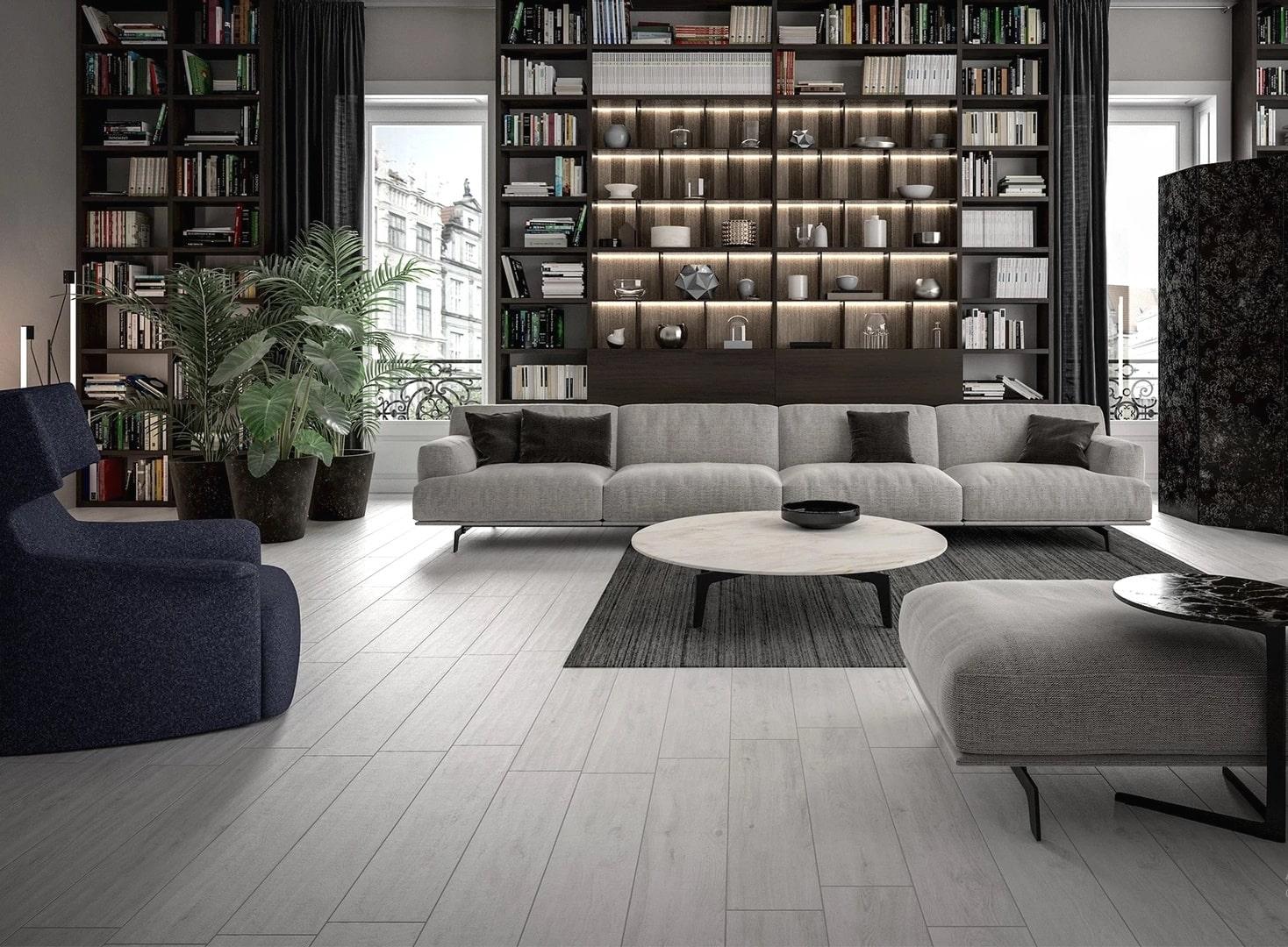 Gresie imitatie parchet Oak White 20x90 cm